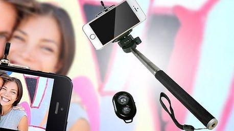 Selfie tyč s dálkovým ovládáním