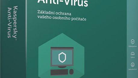 Kaspersky Anti-Virus 2017 CZ, 1 zařízení, 12 měsíců, nová licence - KL1171OBABS-CZ