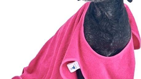 Krásný a praktický ručník pro psy. Produkt chráněn patentovým vzorem - vymyšleno a testováno v ČR.