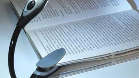 LED lampička na knížku - červená