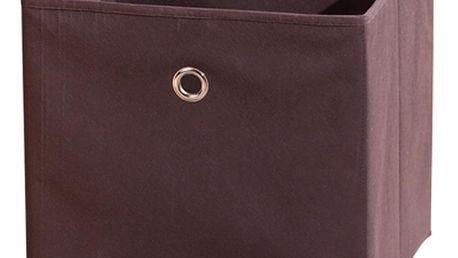 Winny - textilní box, hnědý
