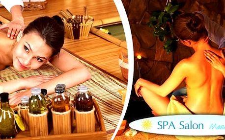 Půlhodinová masáž zad a šíje,hodinová celotělová thajská olejová masáž nebo masáž pro páry. Jste ve stresu, unavení, nebo Vás trápí bolesti zad? Přijďte k nám vyzkoušet terapii thajskou olejovou masáží. Thajská masáž je vždy příjemným zážitkem. Spa salon