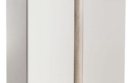 Komoda 2 dveře NOBEL dub/perleťově bílá