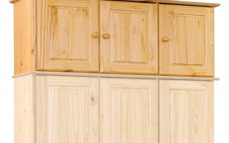 Nástavec ke skříni z masivu borovice 8864 lak Akce Idea