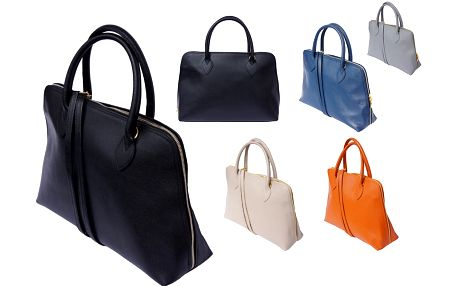 Kožená kabelka Saffiano, barvy na výběr