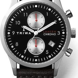 Triwa Raven Lansen Chrono Black Sewn Classic TW-LCST114-SC010112 + pojištění hodinek, doprava ZDARMA, záruka 3 roky