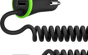 Výkonná autonabíječka s USB a kabelovým micro USB