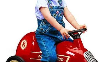 Kovové retro odrážedlo či vozík až pro 2 děti od kvalitní značky Radio Flyer včetně dopravy