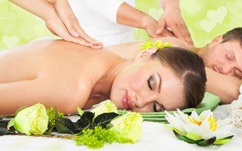 Božská thajská masáž pro páry v salonech Lotus