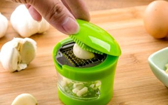 Lis na česnek s miskou - zelený