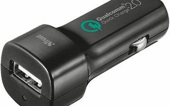 Autonabíječka Trust Ultra Fast, 1x USB, 2,4A s funkcí rychlonabíjení (21064) černý