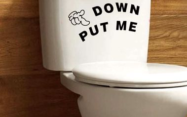 Samolepka na wc DOWN PUT ME