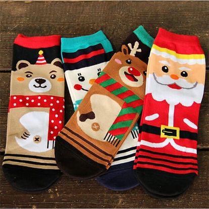 3 páry ponožek s roztomilými vánočními motivy