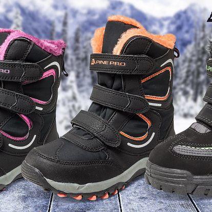 Nepromokavé a zateplené dětské boty Alpine Pro