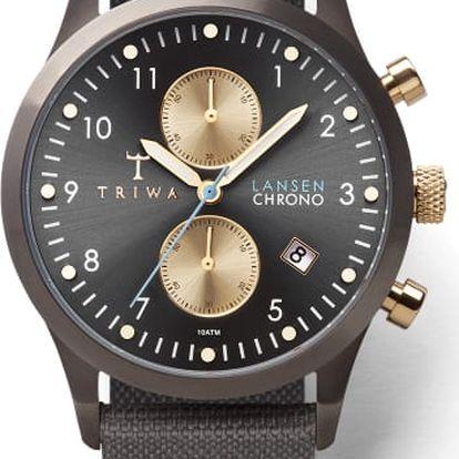 Triwa Walter Lansen Chrono Gray Canvas Classic TW-LCST101-CL061613 + pojištění hodinek, doprava ZDARMA, záruka 3 roky