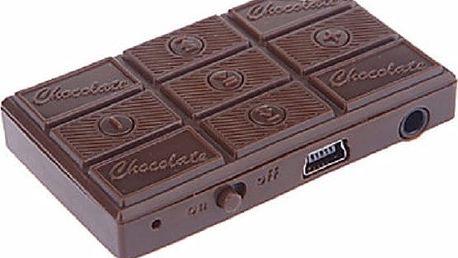 MP3 přehrávač v podobě čokolády