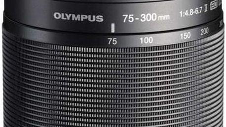 Olympus M. ZUIKO DIGITAL 75-300mm, F4.8-6.7 ED II, černá - V315040BE000