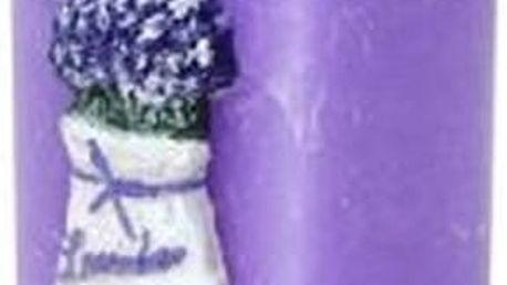 Krásná svíčka s motivem levandule. Oblíbený provensálský styl s motivem uklidňující levandule.