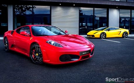 Adrenalinový dárek! Jízda snů vsupersportu Ferrari F430 nebo Lamborghini
