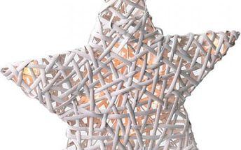Velká ratanová vánoční hvězda s 10 LED světly