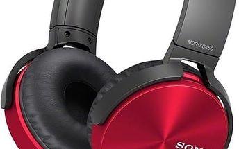 Sony MDR-XB450AP, červená - MDRXB450APR.CE7