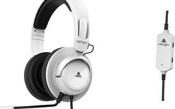 Venom Stereo Gaming Headset, bílá - VL027317