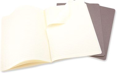 Sada 3 notesů Moleskine Cahier, 19x25 cm