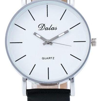 Dámské hodinky s přehledným ciferníkem - černá - dodání do 2 dnů