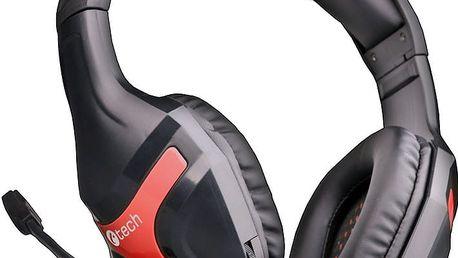 C-TECH Nemesis, černá/červená - GHS-13R