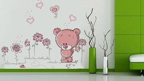 Roztomilá samolepka na zeď s medvídkem - dodání do 2 dnů