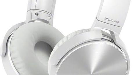 Sony MDR-XB450AP, bílá - MDRXB450APW.CE7