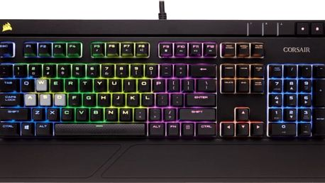 Corsair Gamiing STRAFE RGB LED + Cherry MX BLUE, CZ - CH-9000120-CZ
