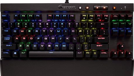 Corsair Gaming K65 RAPIDFIRE RGB LED + Cherry MX SPEED, CZ - CH-9110014-CZ