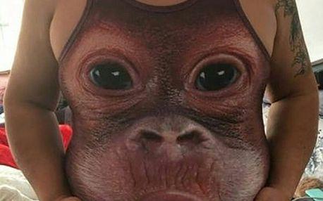 Vtipné tílko se vzorem orangutána