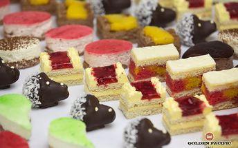 Skvělé minidezerty z Golden Pacific Café: 24, 48 nebo 96 kusů včetně krabice, celkem 8 druhů