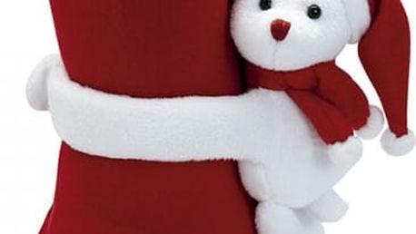 Vánoční fleecová deka - Medvídek - VÝPRODEJ