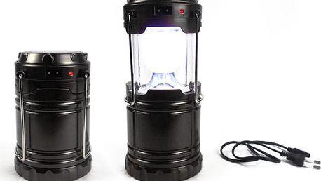Silná solární lampa s USB a výdrží až 6 hodin