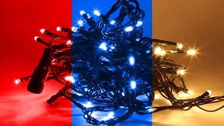 Vánoční řetěz s 50–300 LED diodami v několika barvách