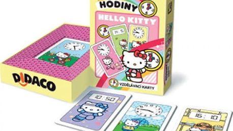 Vzdělávací karty DIDACO Hodiny - Hello Kitty - VÝPRODEJ