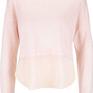 Světle růžový top s dlouhým rukávem Vero Moda Glory