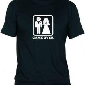 Tričko - GAME OVER - černé - XXXL