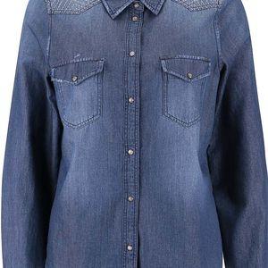 Modrá džínová košile s dlouhým rukávem Vero Moda Jashi