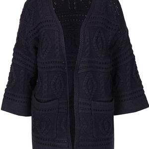 Tmavě modrý pletený cardigan Vero Moda Rowan