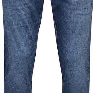 Modré vyšisované džíny !Solid Frank Stretch