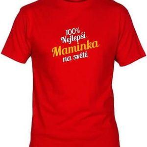 Tričko - Nejlepší maminka - červené - S