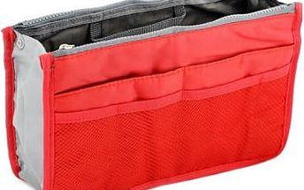 Organizér do kabelky - červená
