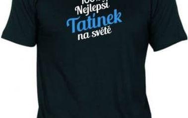 Tričko - Nejlepší tatínek - černé - XL