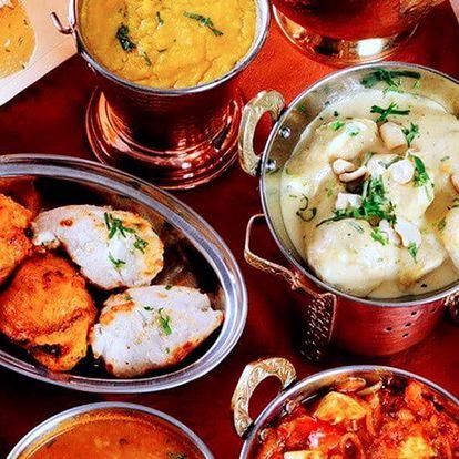 Exotické indické menu včetně nápojů pro dva