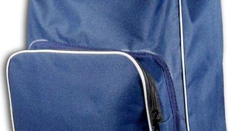 Modrý nákupní košík na kolečkách s termo kapsou Jocca - doprava zdarma!
