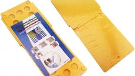 Deska na rychloskládání DĚTSKÉHO oblečení - žlutá